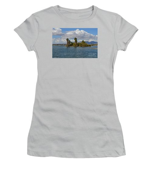 Marooned Palms Women's T-Shirt (Junior Cut) by Renie Rutten