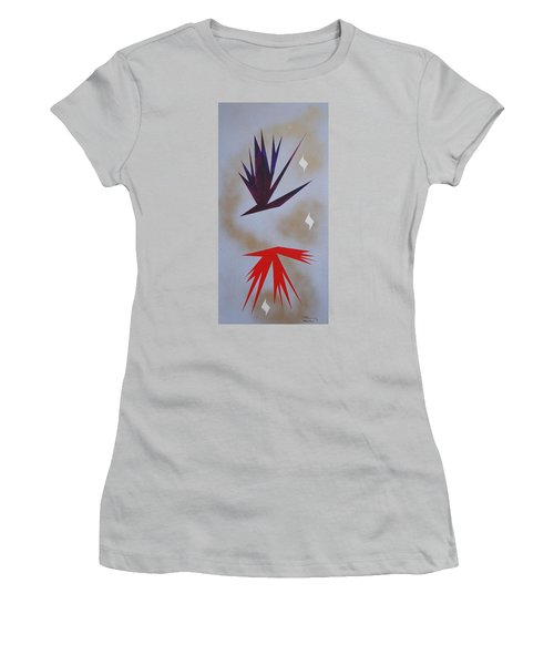Women's T-Shirt (Junior Cut) featuring the painting Mating Ritual by J R Seymour
