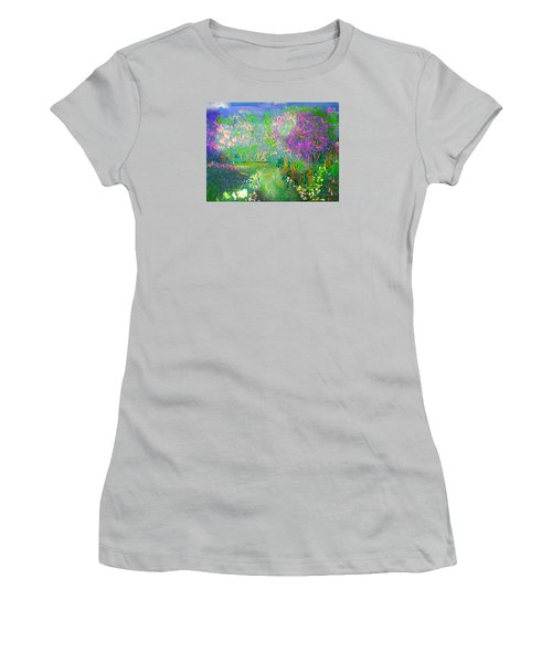 Meadow Trail By Colleen Ranney Women's T-Shirt (Athletic Fit)