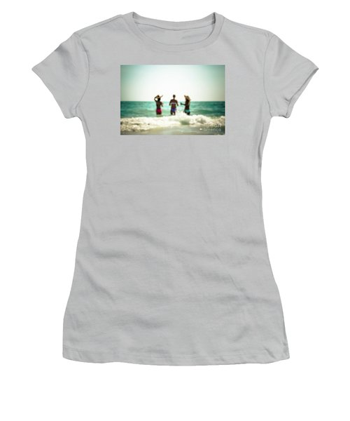 Women's T-Shirt (Junior Cut) featuring the photograph Mermaids by Hannes Cmarits