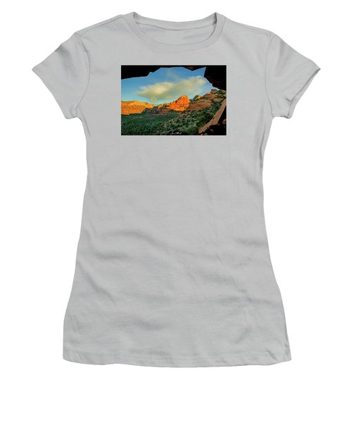 Mescal Mountain 04-012 Women's T-Shirt (Junior Cut) by Scott McAllister