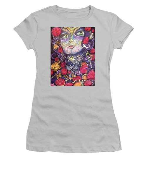 Mia De Los Muertos Women's T-Shirt (Athletic Fit)