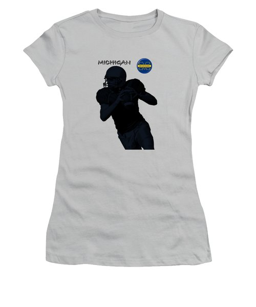 Michigan Football  Women's T-Shirt (Athletic Fit)
