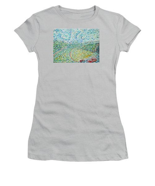 Midday Steam Women's T-Shirt (Junior Cut) by Anna Yurasovsky