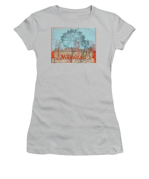 Women's T-Shirt (Junior Cut) featuring the photograph Milkweed Collage by Cynthia Powell