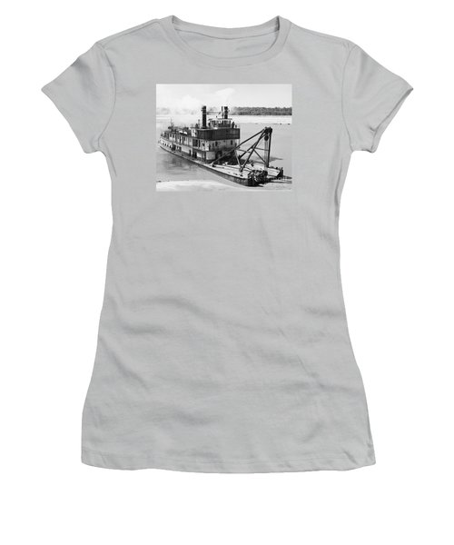Women's T-Shirt (Junior Cut) featuring the photograph Mississippi River Snag Boat by Granger