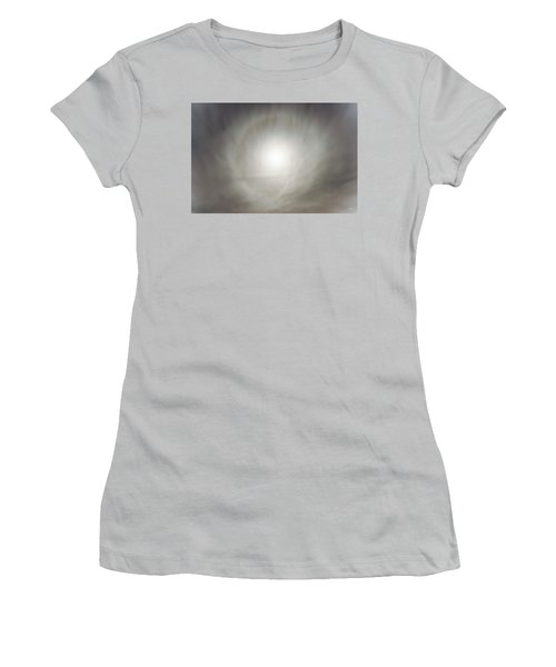 Women's T-Shirt (Junior Cut) featuring the photograph Moon Dog by Leland D Howard
