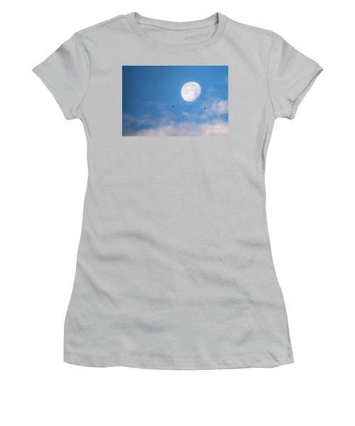 Moon Set Women's T-Shirt (Athletic Fit)