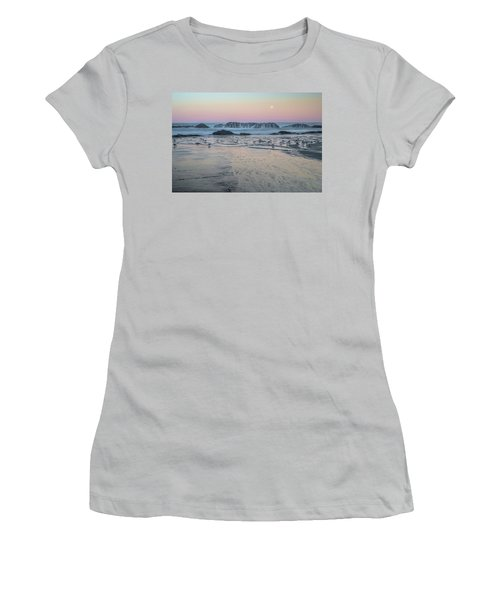 Moonset At Seal Rock Women's T-Shirt (Athletic Fit)