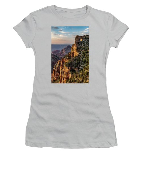 Morning Glow On Angels Window Women's T-Shirt (Athletic Fit)