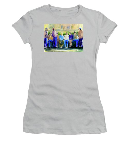 Morning Meeting In Portsmouth Square Women's T-Shirt (Junior Cut) by Tom Simmons