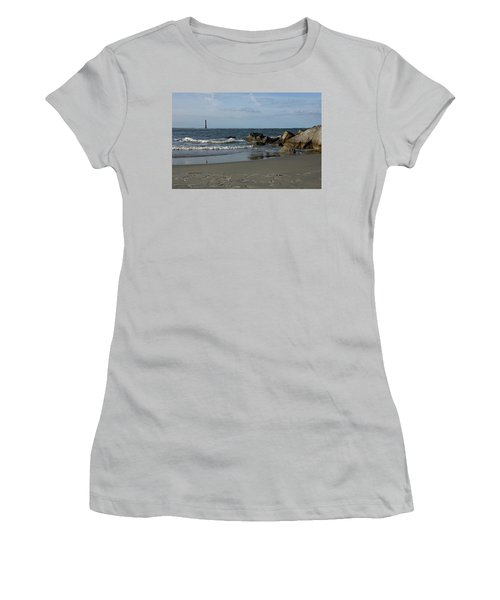 Women's T-Shirt (Junior Cut) featuring the photograph Morris Lighthouse by Sandy Keeton