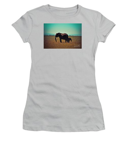 Women's T-Shirt (Junior Cut) featuring the photograph Mother And Child by Karen Lewis