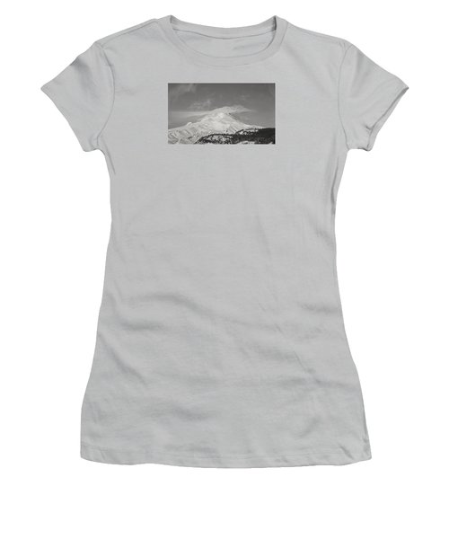 Mt Hood From White River Women's T-Shirt (Athletic Fit)