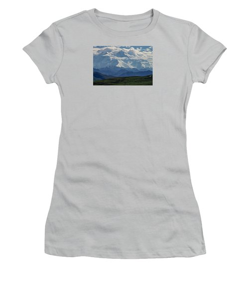 Women's T-Shirt (Junior Cut) featuring the photograph Denali by Gary Lengyel