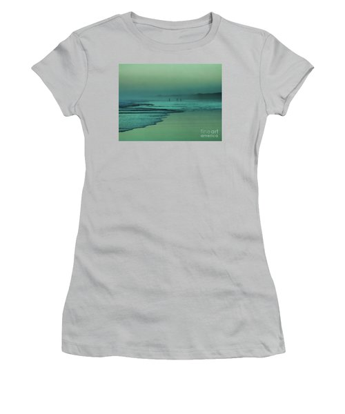 Muawai Sunset Women's T-Shirt (Junior Cut) by Karen Lewis
