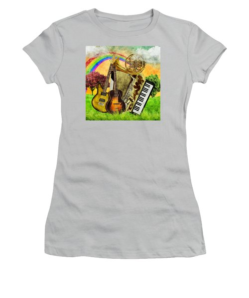 Musical Wonderland Women's T-Shirt (Junior Cut) by Ally White