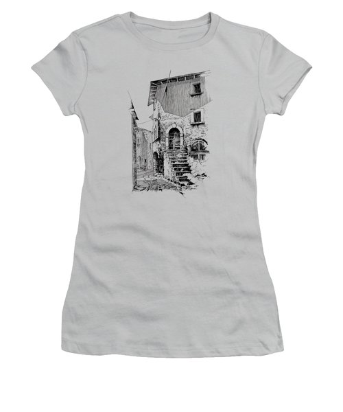 Navelli Dip Pen Sketch  Women's T-Shirt (Athletic Fit)