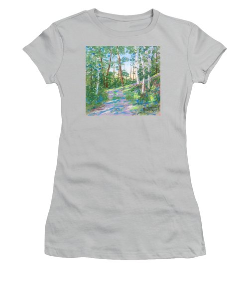 Near The Dingle Tower Halifax  Women's T-Shirt (Athletic Fit)