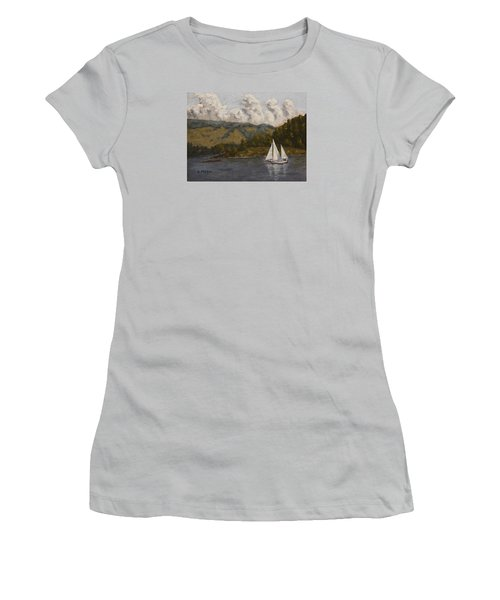 Nearing The Point Women's T-Shirt (Junior Cut) by Alan Mager