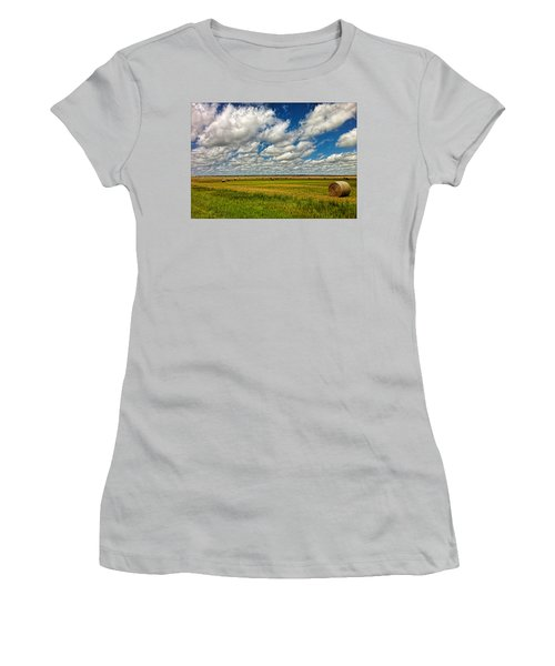 Nebraska Wheat Fields Women's T-Shirt (Athletic Fit)