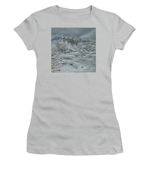 Women's T-Shirt (Athletic Fit) featuring the painting Nor'easter by Judith Rhue