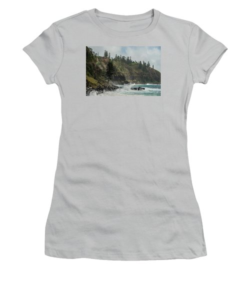 Women's T-Shirt (Athletic Fit) featuring the photograph Norfolk Island Coastline 01 by Werner Padarin