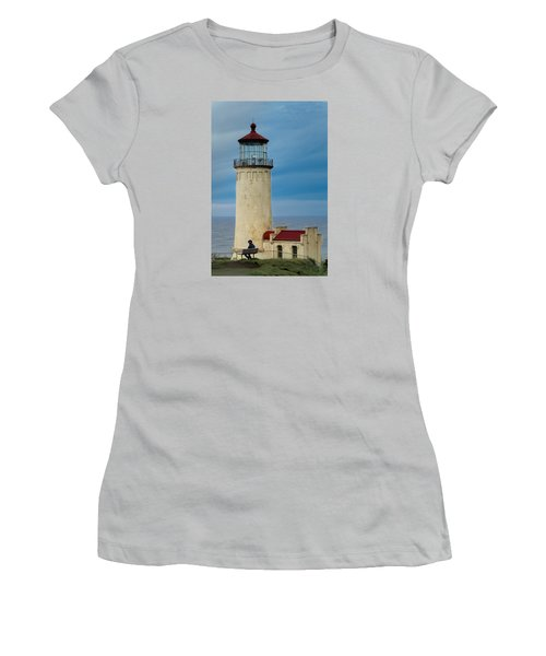 Women's T-Shirt (Junior Cut) featuring the photograph North Head Lighthouse by E Faithe Lester