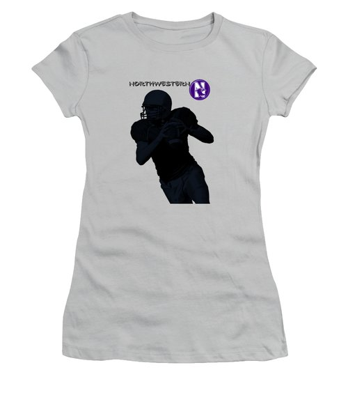 Northwestern Football Women's T-Shirt (Athletic Fit)