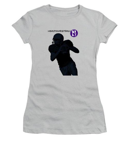 Northwestern Football Women's T-Shirt (Athletic Fit)