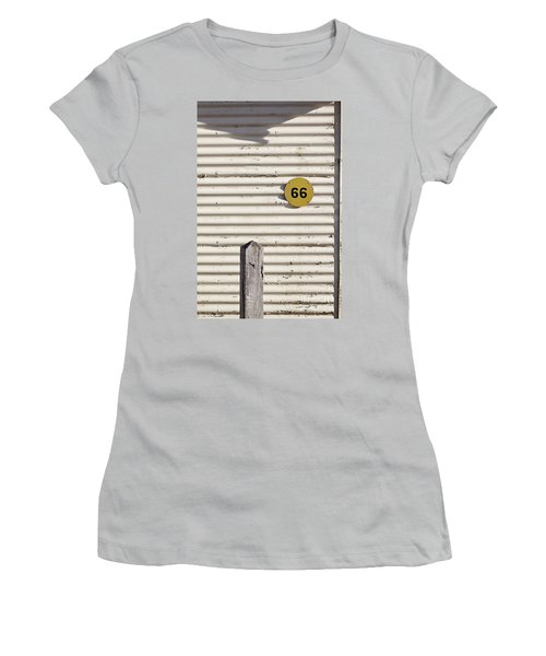 Women's T-Shirt (Junior Cut) featuring the photograph Number 66 by Linda Lees