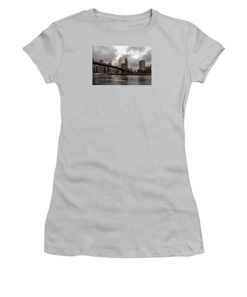 Women's T-Shirt (Junior Cut) featuring the photograph Nyc In The Am by Anthony Fields