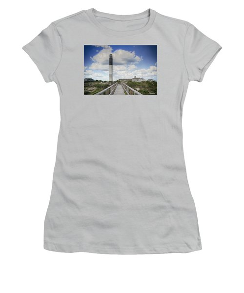 Women's T-Shirt (Junior Cut) featuring the photograph Oak Island Lighthouse by Phil Mancuso
