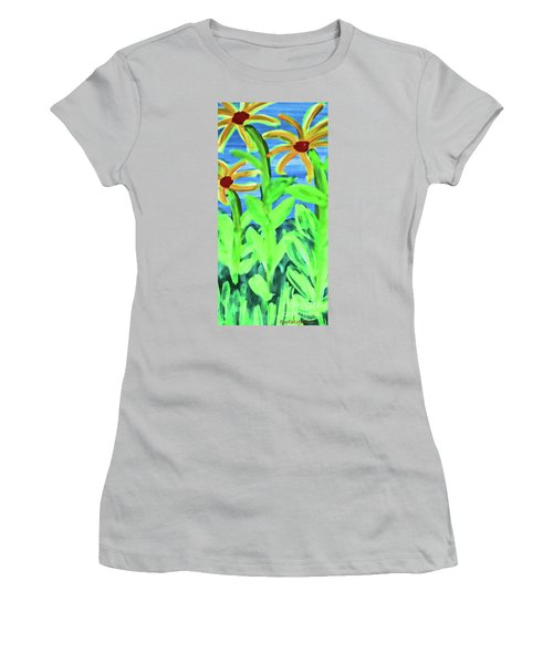Oh Glorious Day Floral Women's T-Shirt (Athletic Fit)