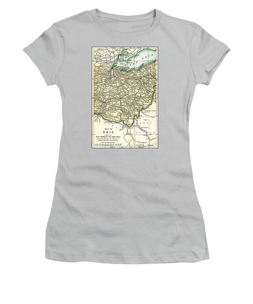 Ohio Antique Map 1891 Women's T-Shirt (Athletic Fit)