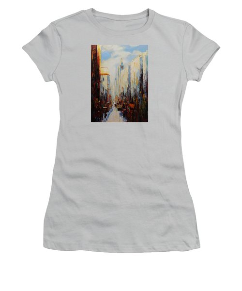 Oil Msc 059 Women's T-Shirt (Junior Cut) by Mario Sergio Calzi