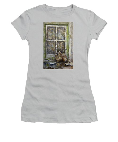 Old Boots Women's T-Shirt (Junior Cut) by Marty Garland