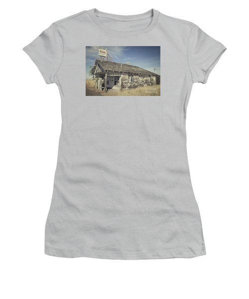 Old Gas Station Women's T-Shirt (Junior Cut) by Robert Bales