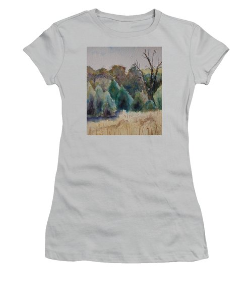 Old Growth Forest Women's T-Shirt (Junior Cut) by Patsy Sharpe