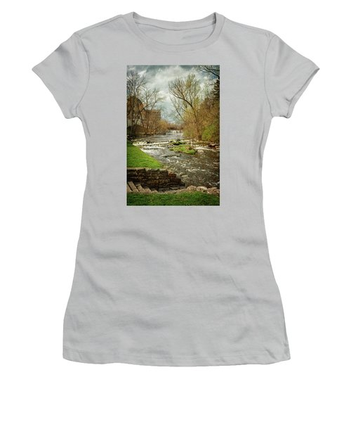 Old Mill On The River Women's T-Shirt (Athletic Fit)