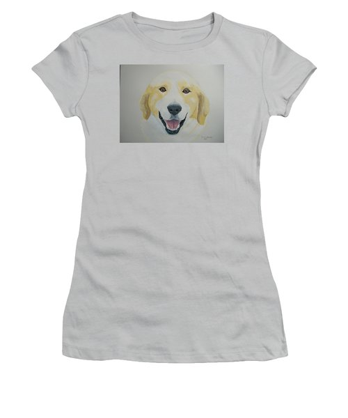 Women's T-Shirt (Junior Cut) featuring the painting Old Shep by Norm Starks