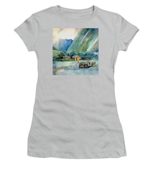 Olowalu Valley Women's T-Shirt (Junior Cut) by Ray Agius