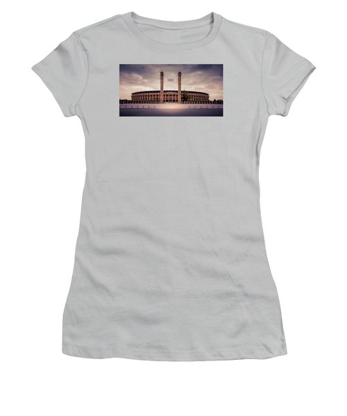 Olympic Stadium Berlin Women's T-Shirt (Junior Cut) by Stavros Argyropoulos