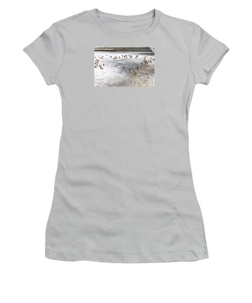 On Ice  Women's T-Shirt (Junior Cut) by Leif Sohlman