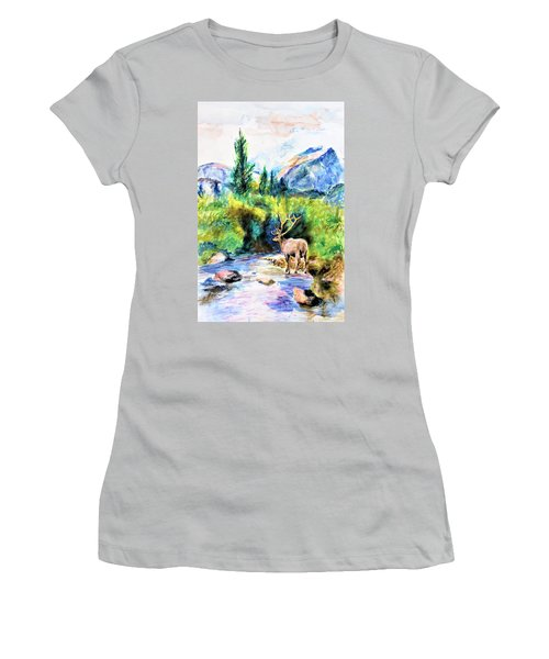On The Stream Women's T-Shirt (Athletic Fit)
