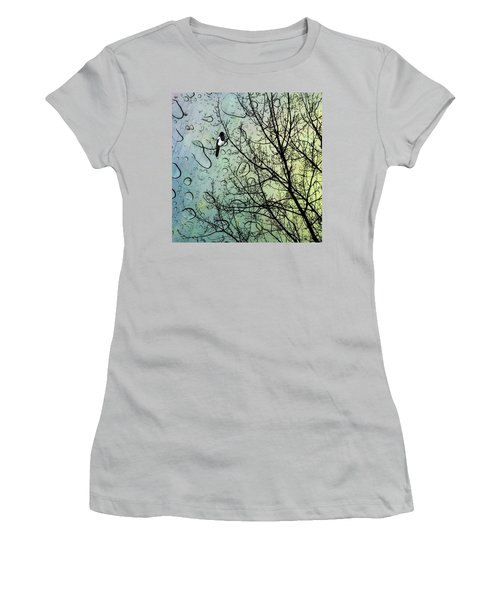 One For Sorrow #nurseryrhyme Women's T-Shirt (Athletic Fit)