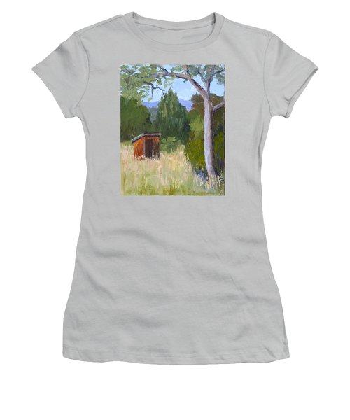 One Holer Women's T-Shirt (Junior Cut) by Susan Woodward