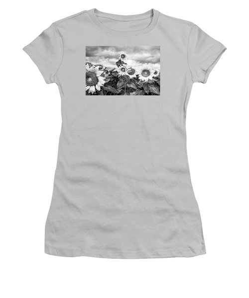 One Stands Tall Women's T-Shirt (Junior Cut) by Jim Rossol