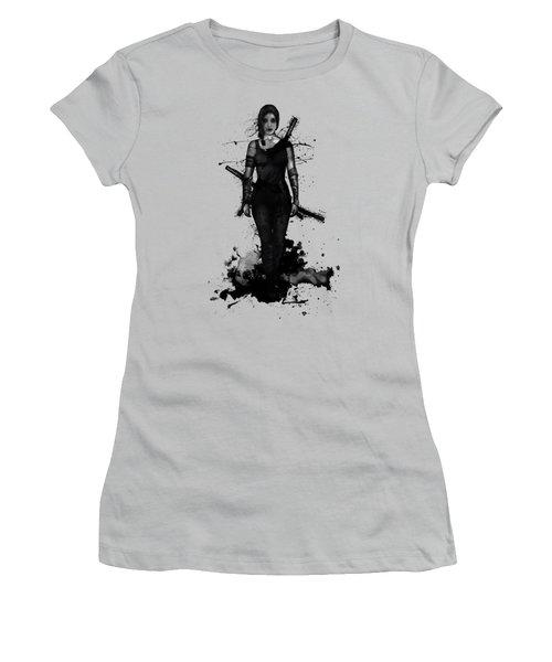 Women's T-Shirt (Junior Cut) featuring the digital art Onna Bugeisha by Nicklas Gustafsson