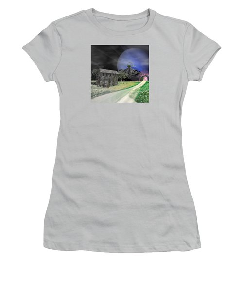Open Portal Women's T-Shirt (Junior Cut) by Ally  White